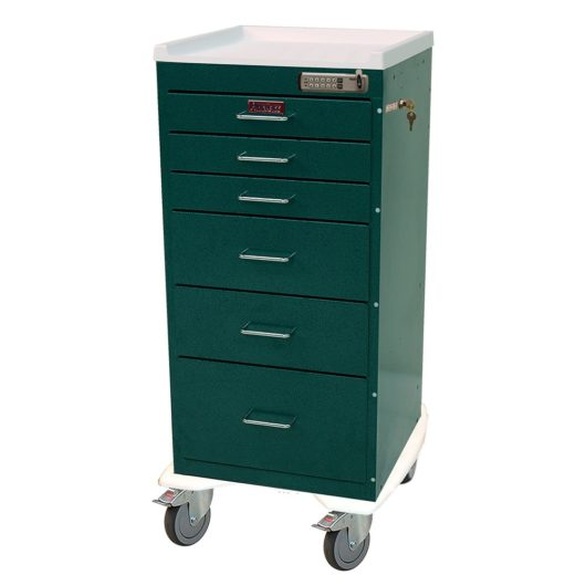 Six Drawer Aluminum with Basic Electronic Pushbutton Lock