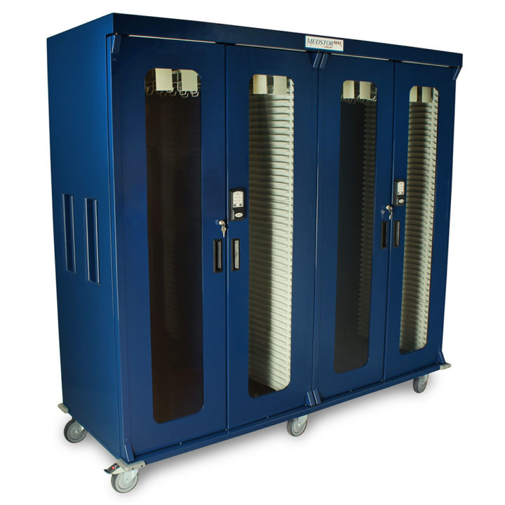 MS8181DR-EKC Navy Cath Medical Grade Storage Cabinet Right