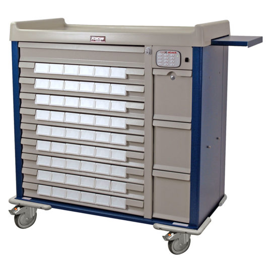 Standard Med Bin Cart with Electronic Lock