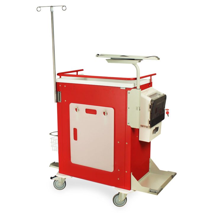 MDS3030B06-EMG3 Crash Cart with Accessories - Quarter Left Back