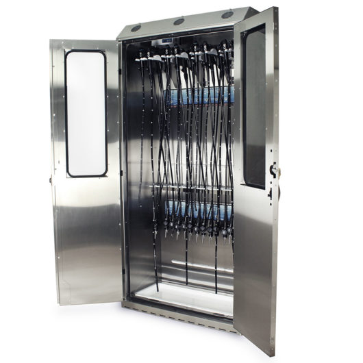 SCSS8044DRDP-DSS3316 Endoscope Drying Cabinet Supplier - Quarter Left Open with Scopes